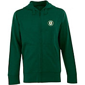 Antigua Men's Oakland Athletics Green Full-Zip Fleece Hoodie
