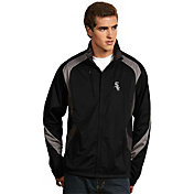 Antigua Men's Chicago White Sox Tempest Black Full-Zip Jacket