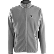 Antigua Men's Chicago White Sox Full-Zip Silver Ice Jacket