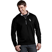 Antigua Men's Chicago White Sox Leader Black Quarter-Zip Pullover