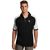 Antigua Men's Chicago White Sox Century Black/White Polo