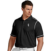 Antigua Men's Chicago White Sox Icon Black Performance Polo