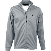 Antigua Men's Chicago White Sox Full-Zip Silver Golf Jacket