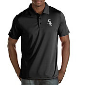 Antigua Men's Chicago White Sox Black Quest Performance Polo