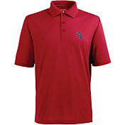 Antigua Men's Chicago White Sox Xtra-Lite Patriotic Logo Red Pique Performance Polo