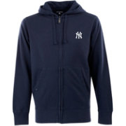 Antigua Men's New York Yankees Navy Full-Zip Fleece Hoodie