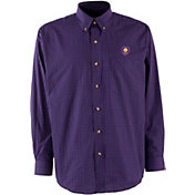 Antigua Men's Orlando City Purple Esteem Woven Long-Sleeve Shirt