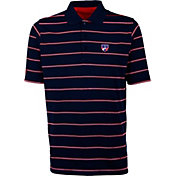 Antigua Men's FC Dallas Deluxe Navy Polo