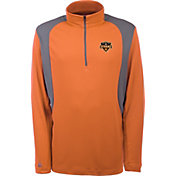 Antigua Men's Houston Dynamo Delta Orange Quarter-Zip Pullover