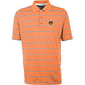 Antigua Men's Houston Dynamo Deluxe Orange Polo
