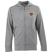 Antigua Men's Houston Dynamo Signature Heathered Full-Zip Hoodie