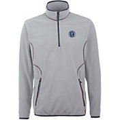 Antigua Men's New York City FC Ice Silver Quarter-Zip Fleece Jacket