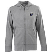 Antigua Men's San Jose Earthquakes Signature Heathered Full-Zip Hoodie