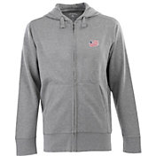 Antigua Men's New England Revolution Signature Heathered Full-Zip Hoodie