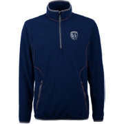 Antigua Men's Sporting Kansas City Ice Navy Quarter-Zip Fleece Jacket