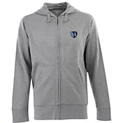 Antigua Men's Sporting Kansas City Signature Heathered Full-Zip Hoodie