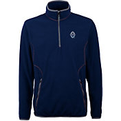 Antigua Men's Vancouver Whitecaps Ice Navy Quarter-Zip Fleece Jacket