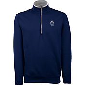 Antigua Men's Vancouver Whitecaps Leader Navy Quarter-Zip Jacket