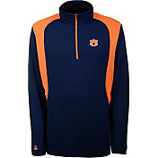 Antigua Men's Auburn Tigers Blue Delta Quarter-Zip Pullover