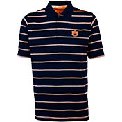 Antigua Men's Auburn Tigers Blue Deluxe Performance Polo