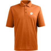 Antigua Men's Clemson Tigers Orange Xtra-Lite Polo