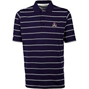Antigua Men's East Carolina Pirates Purple Deluxe Performance Polo