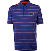 Antigua Men's Florida Gators Blue Deluxe Performance Polo
