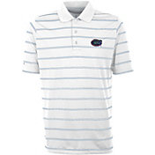 Antigua Men's Florida Gators Deluxe Performance White Polo