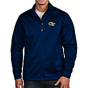 Antigua Men's Georgia Tech Yellow Jackets Navy Performance Golf Jacket