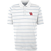 Antigua Men's Houston Cougars Deluxe Performance White Polo