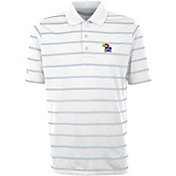 Antigua Men's Kansas Jayhawks Deluxe Performance White Polo