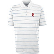 Antigua Men's Oklahoma Sooners Deluxe Performance White Polo