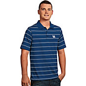 Antigua Men's Kentucky Wildcats Blue Deluxe Performance Polo