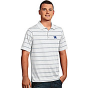 Antigua Men's Kentucky Wildcats Deluxe Performance White Polo