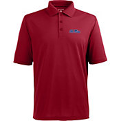 Antigua Men's Ole Miss Rebels Red Xtra-Lite Polo