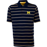 Antigua Men's Michigan Wolverines Blue Deluxe Performance Polo