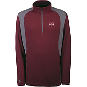 Antigua Men's Mississippi State Bulldogs Maroon Delta Quarter-Zip Pullover