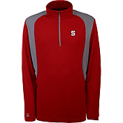 Antigua Men's NC State Wolfpack Red Delta Quarter-Zip Pullover