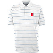 Antigua Men's NC State Wolfpack Deluxe Performance White Polo