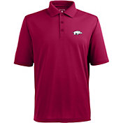 Antigua Men's Arkansas Razorbacks Cardinal Xtra-Lite Polo