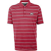 Antigua Men's Arkansas Razorbacks Cardinal Deluxe Performance Polo
