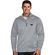 Antigua Men's Arkansas Razorbacks Silver Performance Golf Jacket