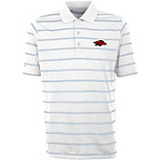 Antigua Men's Arkansas Razorbacks Deluxe Performance White Polo