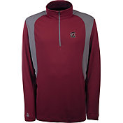 Antigua Men's South Carolina Gamecocks Garnet Delta Quarter-Zip Pullover