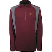 Antigua Men's Arizona State Sun Devils Maroon Delta Quarter-Zip Pullover