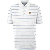 Antigua Men's Arizona State Sun Devils Deluxe Performance White Polo