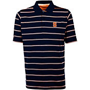 Antigua Men's Syracuse Orange Blue Deluxe Performance Polo