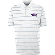 Antigua Men's TCU Horned Frogs Deluxe Performance White Polo