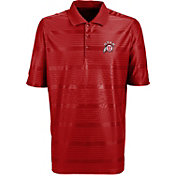Antigua Men's Utah Utes Crimson Illusion Performance Polo