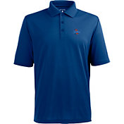Antigua Men's Tulsa Golden Hurricane Blue Xtra-Lite Polo